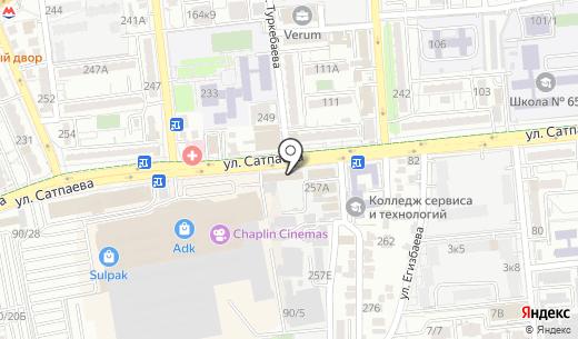 G-Technick. Схема проезда в Алматы