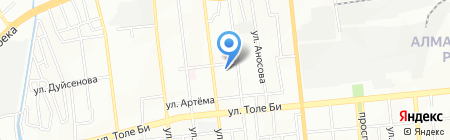 Ясли-сад №74 на карте Алматы