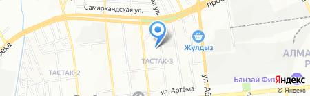 Ясли-сад №182 на карте Алматы