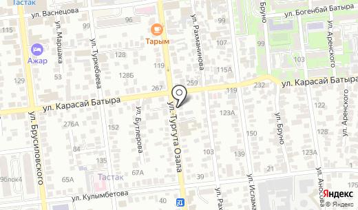 Paradise. Схема проезда в Алматы