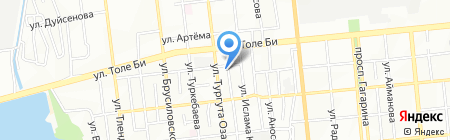 Баня на карте Алматы