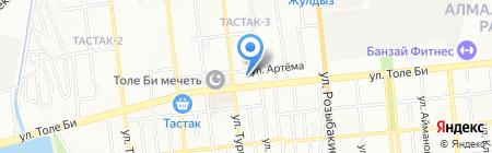 Грация на карте Алматы