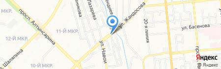 Асель на карте Алматы