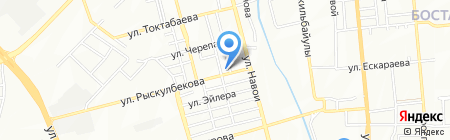 Пункт замены масла на карте Алматы