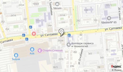 Центр теплых полов. Схема проезда в Алматы