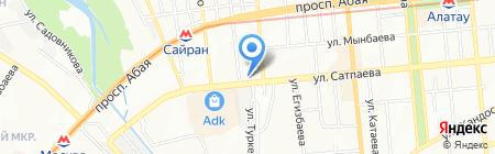 Танцевальная студия на ул. Сатпаева на карте Алматы