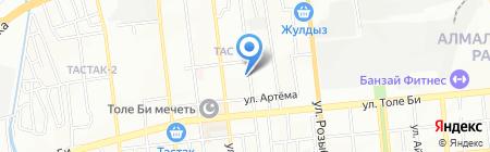 Общежитие на карте Алматы