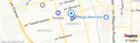 Ost XXI Век на карте Алматы