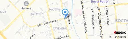 Городской противотуберкулезный диспансер Ауэзовского района на карте Алматы