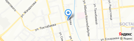 Талас на карте Алматы