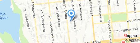 Колебательный контур на карте Алматы