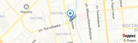 Автосервис на ул. Навои на карте Алматы