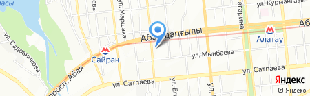 Нотариус Акилтаев А.К. на карте Алматы