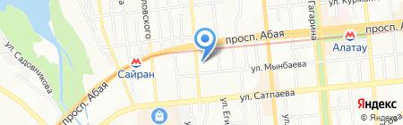 Зарина на карте Алматы