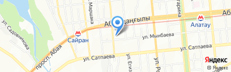 Белый Рояль на карте Алматы