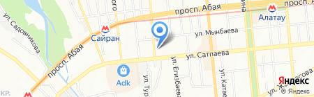 Хасен на карте Алматы