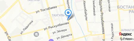 Нотариус Копешова Р.М. на карте Алматы