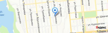 Улан продуктовый магазин на карте Алматы