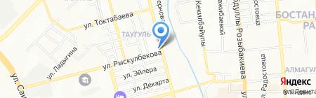 Адвокатская контора Танаева Р.Р. на карте Алматы