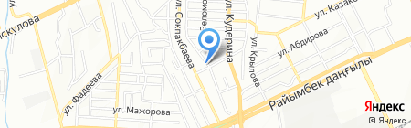 Олжас продовольственный магазин на карте Алматы