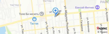 Три-А на карте Алматы