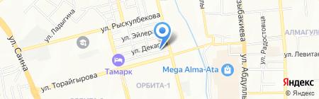 Досжан на карте Алматы