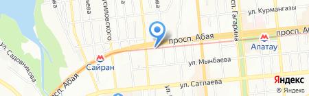Нотариус Молдабекова М.А. на карте Алматы