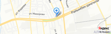 Золотые ножницы на карте Алматы
