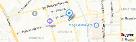 Салам на карте Алматы