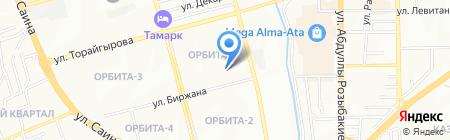 Конкорд Экспресс на карте Алматы