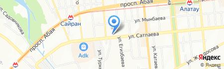 Силуэт на карте Алматы