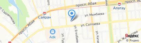 МЕДЕО на карте Алматы