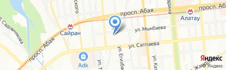 Ясли-сад №90 на карте Алматы