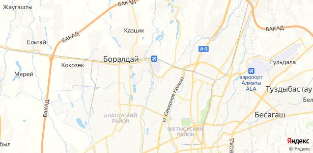 Спецгородок на карте