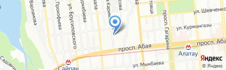 Жеты Арал на карте Алматы