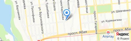 Жансая на карте Алматы