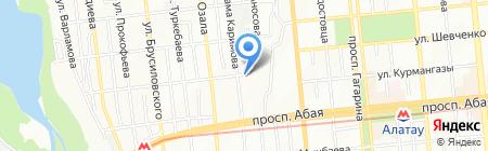 Генус на карте Алматы