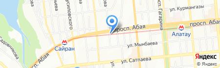 Автоателье на ул. Гайдара на карте Алматы