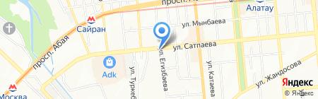Пункт технического осмотра на карте Алматы