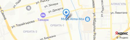 Молния на карте Алматы