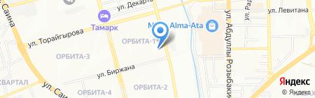 Динара продуктовый магазин на карте Алматы