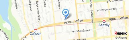 Продовольственный магазин на проспекте Абая на карте Алматы