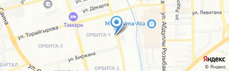 Рахат магазин кондитерских изделий на карте Алматы