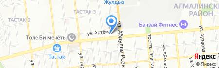 Зубайра на карте Алматы