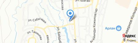 Ясли-сад №1 на карте Алматы