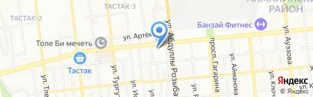 Мастерская по ремонту обуви на ул. Толе би на карте Алматы