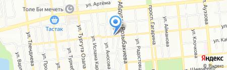 Шиномонтажная мастерская на ул. Карасай батыра на карте Алматы