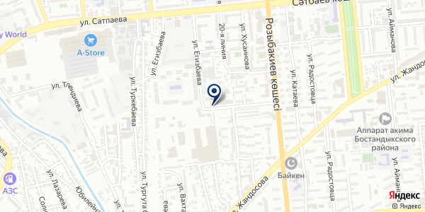 Экспертные познания и оценка на карте Алматы