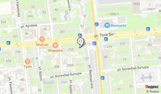 Частный судебный исполнитель Андакулов Ж.Т.. Схема проезда в Алматы