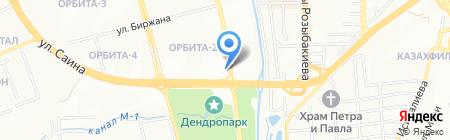 Биржан на карте Алматы
